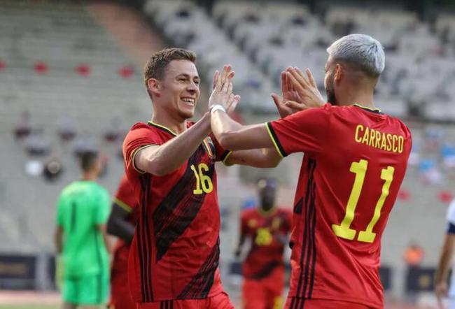 热身-小阿扎尔进球 卡拉斯科助攻 比利时1-1希腊