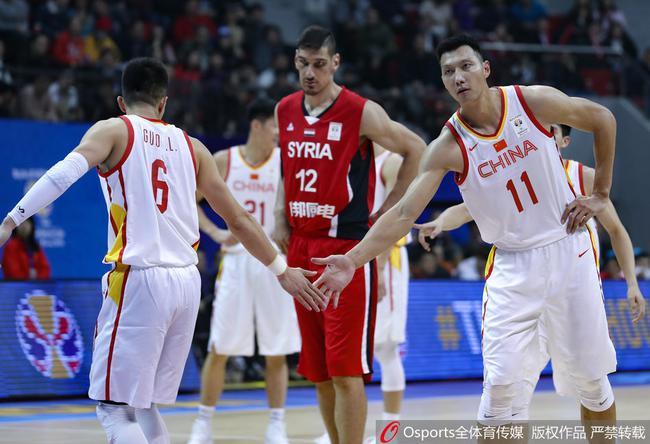 中国男篮主场大胜叙利亚