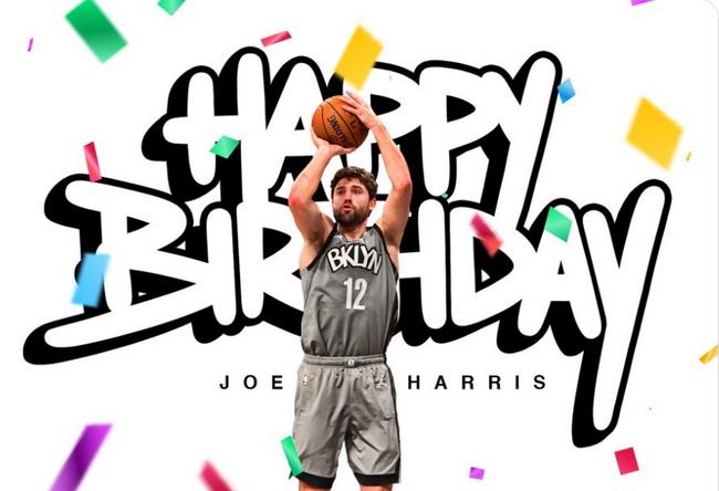 篮网祝贺哈里斯30岁生日 上季三分命中率最高