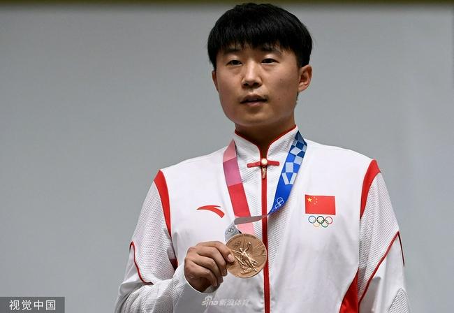 东京奥运手枪速射李越宏再次摘铜 林俊敏获得第6