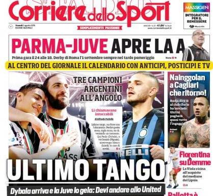《羅馬體育報》報道截圖