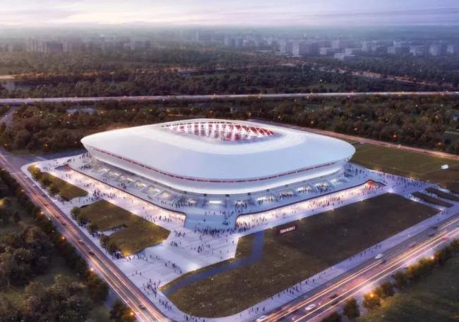 上海浦东专科足球场概念图
