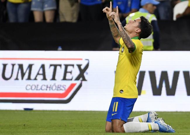 热身赛-库蒂尼奥+尤文米兰两将破门 巴西3-0韩国