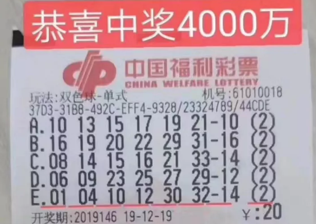 男子守號3年攬雙色球4000萬:兌獎全程渾身僵直