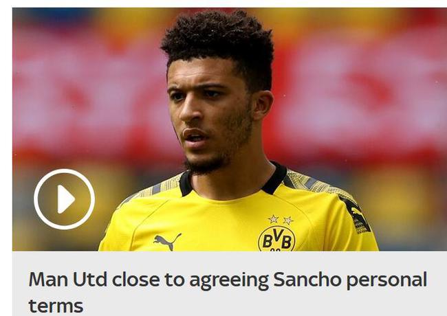 曝曼联已经与桑乔谈妥个人待遇 交易只剩一个障碍