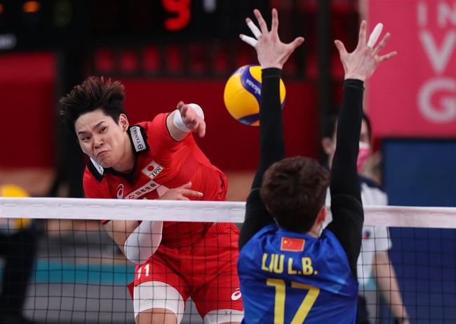 奥运测试赛中国男排完全被动 1-3连负日本男排