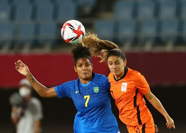 奥运会-荷兰女足3-3巴西女足 末轮对阵中国女足