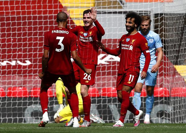 利物浦祝贺进球