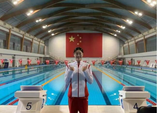 董洁获天津队奥运首金 4乘200自预赛出场发挥出色