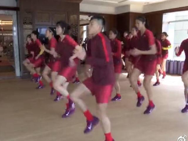 中国女足磨合阵容备战世界杯