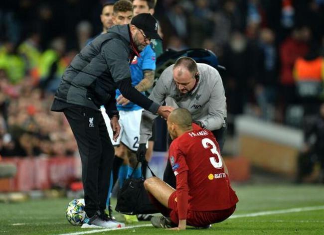 利物浦遭伤病打击!中场支柱受伤 克洛普:他很疼