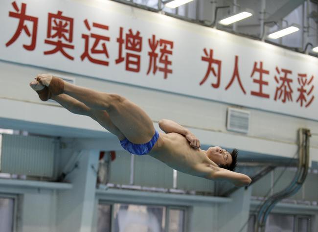 中國跳水隊內測試賽:雙人跳臺突破 陳艾森狀態回升