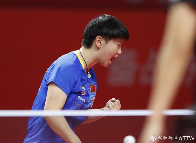 七局大战孙颖莎4-3王曼昱 夺得奥运模拟赛冠军!