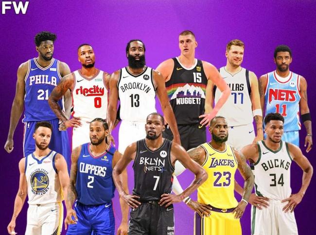 美媒重排现役NBA前十!杜兰特超越詹姆斯列榜首