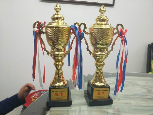 此次网络比赛冠军奖杯