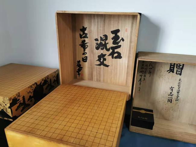 优普围棋博物馆里的历史棋具