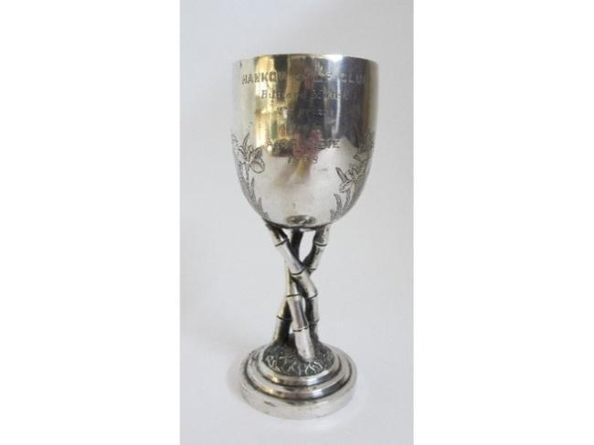 1908年汉口高尔夫俱乐部台球奖杯