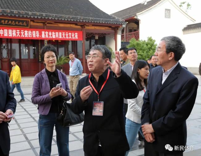 2015年天元赛,聂卫平(中)参观同里天元文化苑
