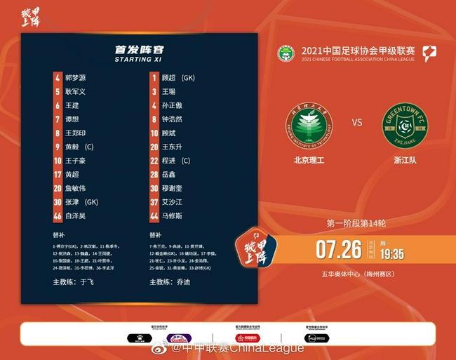 钟浩然梅开二度三外援建功 浙江队5-0北京理工