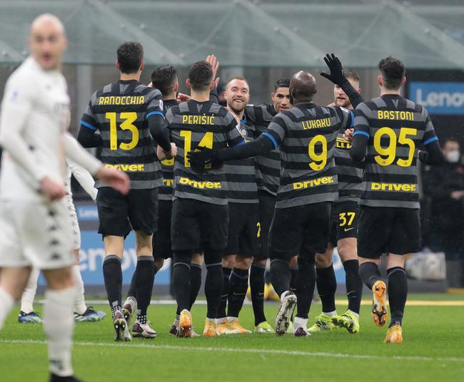 意甲联赛下半程敞开,国际米兰在主场4-0完胜