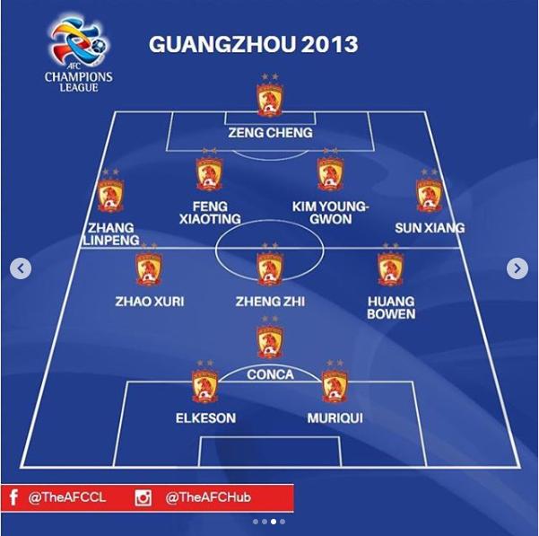 亚足联评选亚冠最佳冠军团队 2013恒大榜上有名