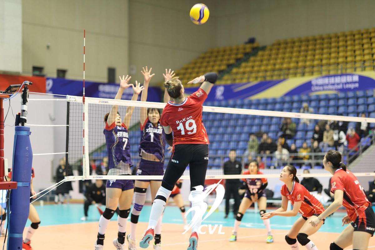 浙江女排3-0四川獲得第九名 外援博坎砍最高17分