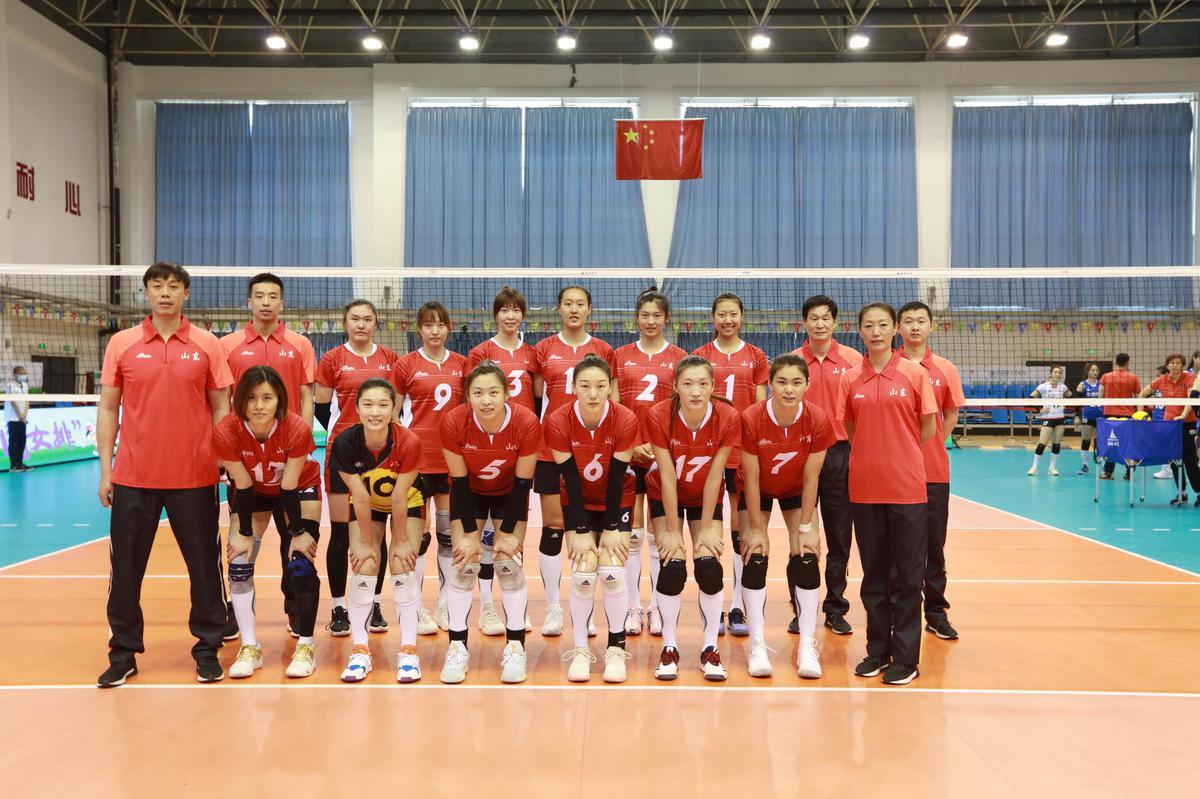 全运女排潍坊赛区第二日 天津山东广东获得胜利