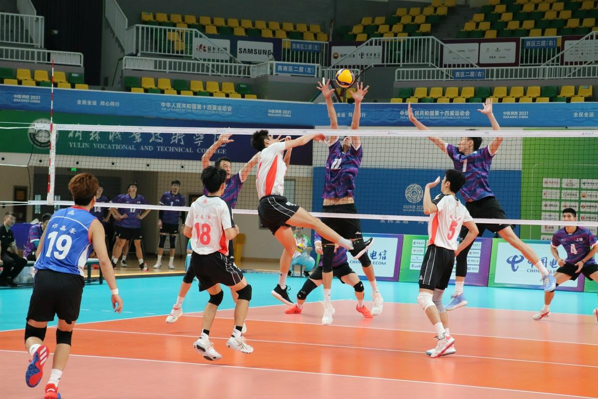 全运会男排第七日:上海3-0河南 北京2-3江苏
