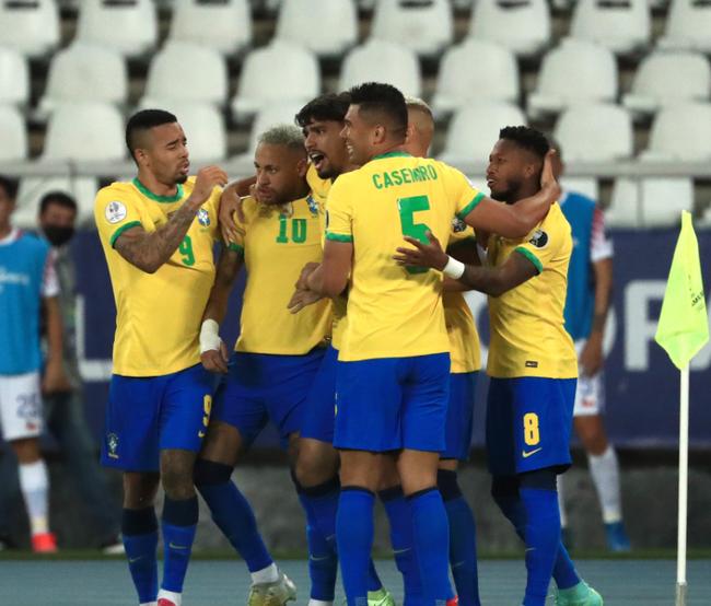 【博狗体育】美洲杯-内马尔策动米兰旧将绝杀 10人巴西1-0智利