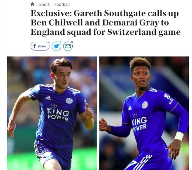 英格兰征召奇维尔和格雷