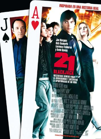 《决胜21点》电影海报