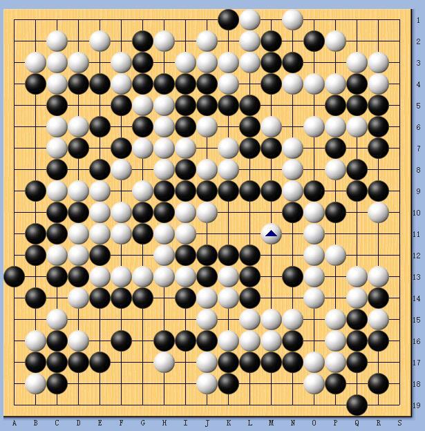 第13届春兰杯半决赛,柯洁执黑中盘负唐韦星。