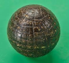手工刻横的古塔胶球