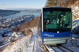 幼火车登卑尔根山顶