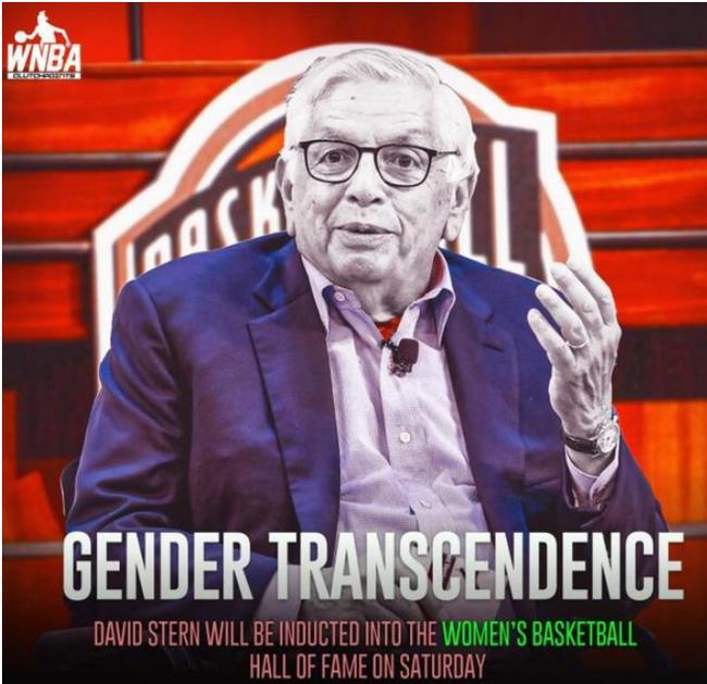 入选WNBA名人堂!斯特恩在1997年组建WNBA