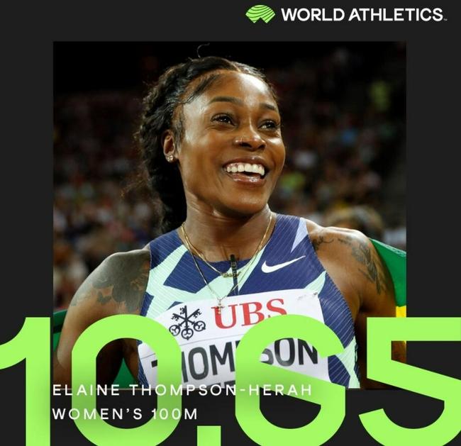 就差破世界纪录了! 女子百米半壁江山已被她打下