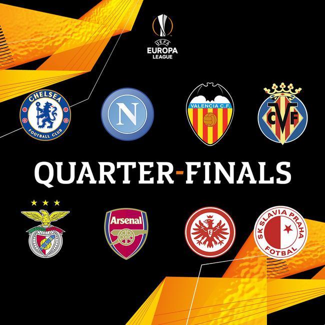 欧联杯八强一览:切尔西阿森纳晋级 五冠王遭淘汰