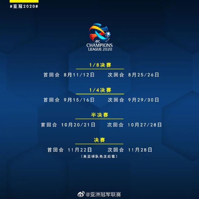 2020亚冠淘汰赛赛程