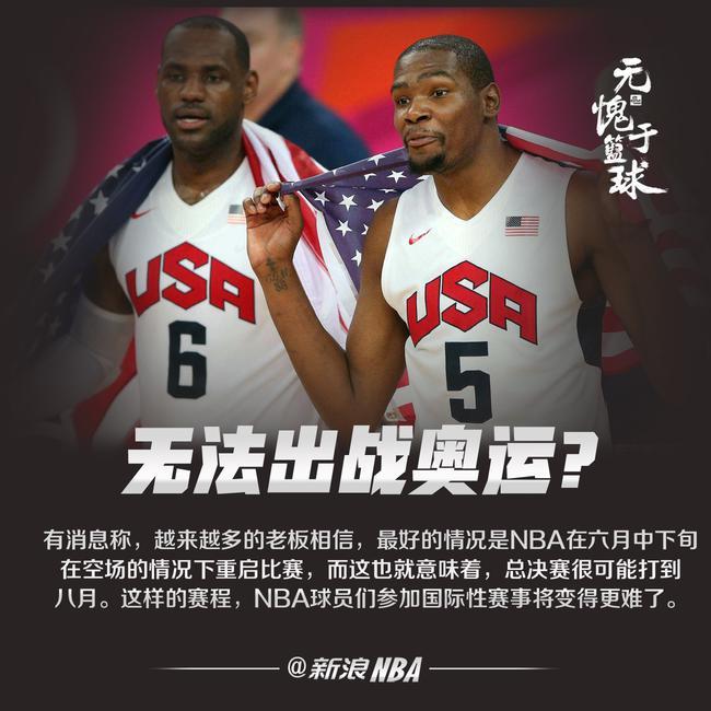 NBA球员可能无法出战奥运会!赛程上看太难了