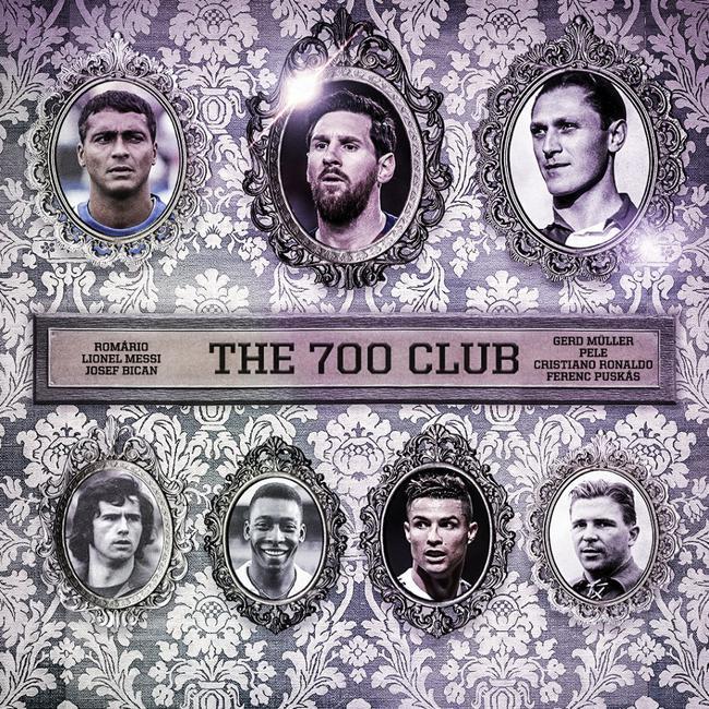 足坛历史只有7人做事生涯进球突破700球