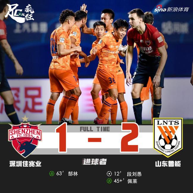 中超-佩莱传射段刘愚破门郜林点射 鲁能2-1深足