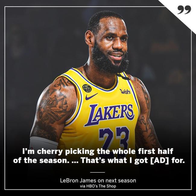 詹姆斯捉弄新赛季:AD先上 我打会儿摄生篮球