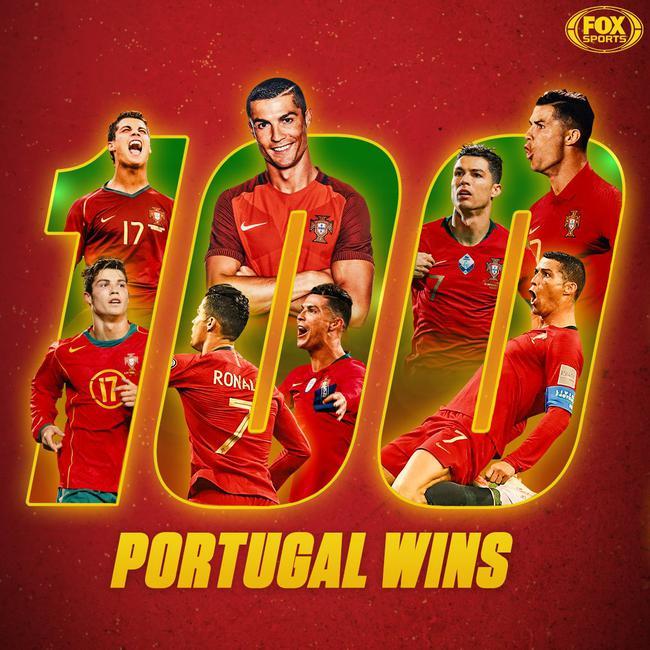 C罗完毕葡萄牙国家队百场成功