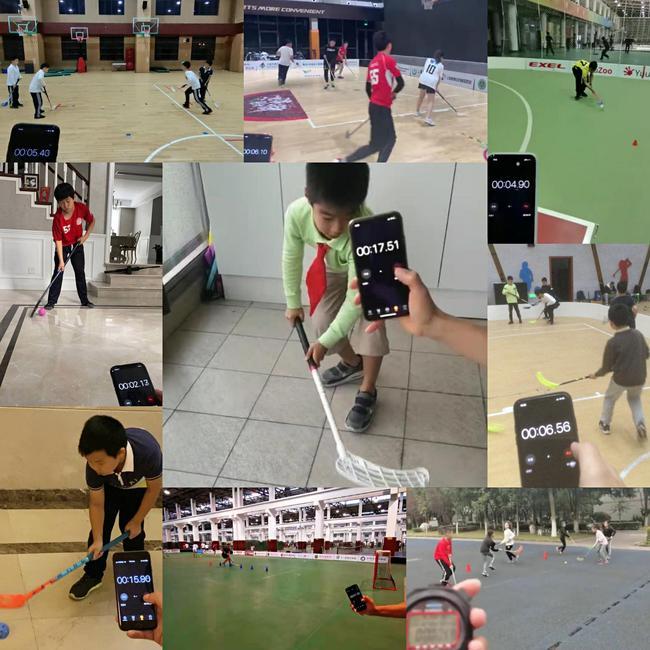 柔式弯棍球线上技能比赛片面场景展现