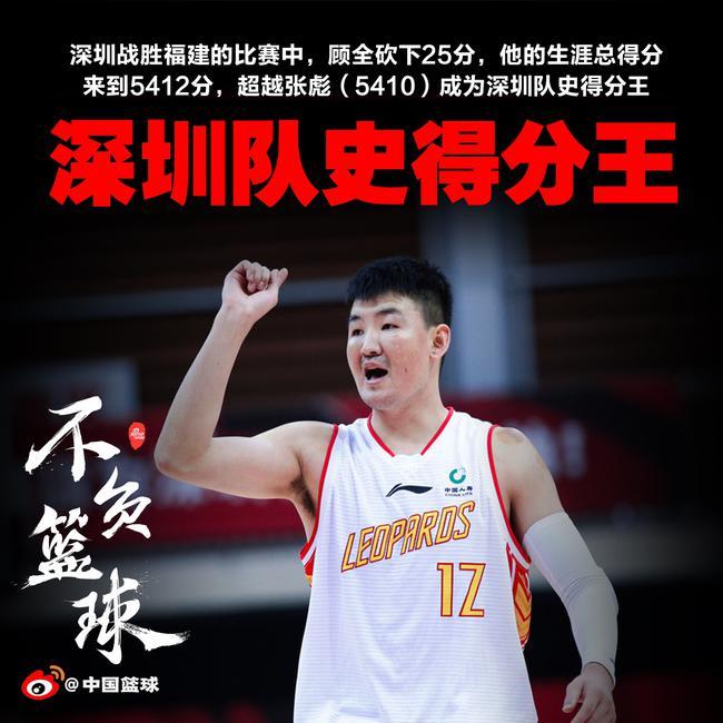 5412分!保全超越张凯加冕深圳队史得分王