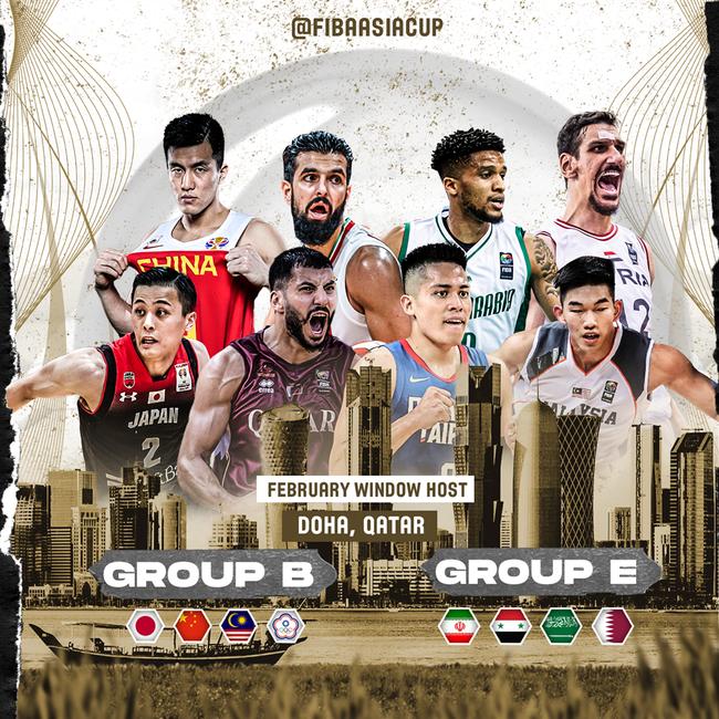 男篮亚洲杯预选B组移师多哈 2月中旬开战