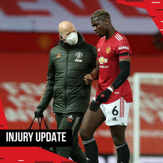 曼联官方宣布博格巴大腿拉伤 将缺席数周时间
