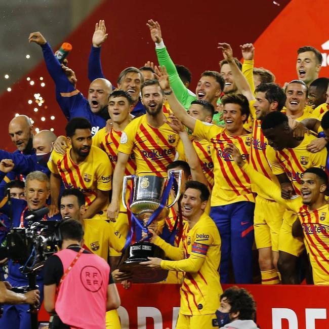 梅西:国王杯非常艰难 这是一个非常特别的奖杯