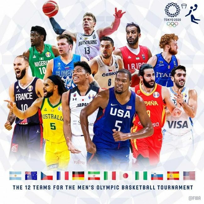 【博狗体育】FIBA发布奥运男篮海报:KD八村塁东契奇登封面