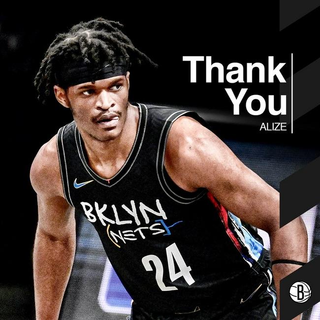 被裁小将发文感谢篮网队:感谢你们所给予的爱